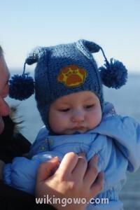 Pierwsza czapka, ulubiona poprzedniej zimy :)