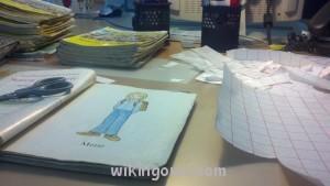 A tak wyglądała moja ostatnia praca w bibliotece-sklejanie książek