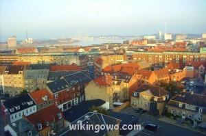 Widok ze szpitalnego okna na Aalborg